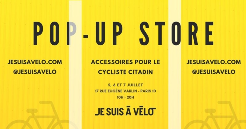 Pop-Up Store je suis à vélo